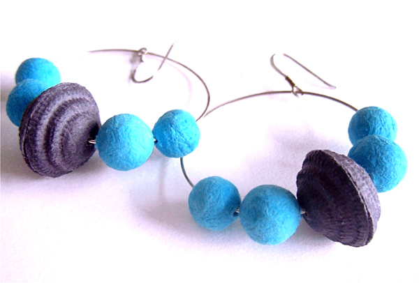 BEGONA RENTERO: Earrings Casablanca, turquoise